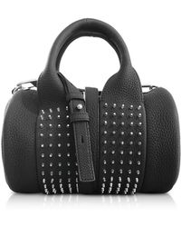 Alexander Wang - Black Matte Leather Studs Baby Rockie Satchel Bag - Lyst