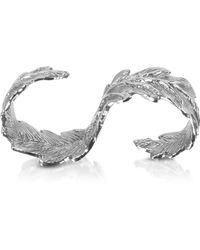 Bernard Delettrez - Two Fingers Silver Leafy Ring - Lyst