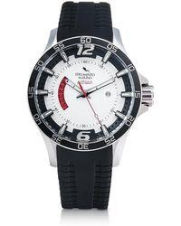 Strumento Marino - Hurricane 3 Hands Black Silicon Brushed Stainless Steel Men's Watch - Lyst