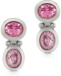 FORZIERI - Pink Crystal Earrings - Lyst