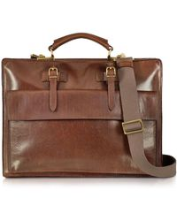 The Bridge - Story Uomo Brown Leather Briefcase - Lyst 89bac3c1b90cf