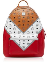 MCM - Logo Visetos Colorblock Backpack - Lyst