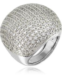 Azhar - Large Cubic Zirconia Sterling Silver Cocktail Ring - Lyst