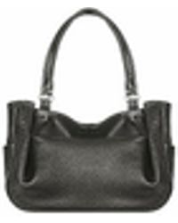 Fontanelli - Black Stitched Soft Leather Tote - Lyst
