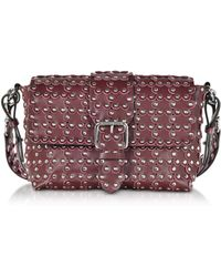RED Valentino - Flower Puzzle Wine Leather Shoulder Bag - Lyst