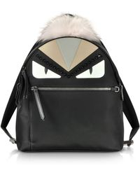 Fendi - Bag Bugs Backpack With Fur - Lyst