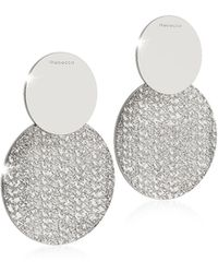 Rebecca - R-zero Rhodium Over Bronze Drop Earrings - Lyst