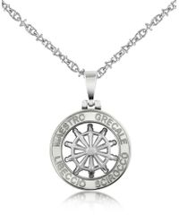 FORZIERI - Stainless Steel Cutout Rudder Pendant Necklace - Lyst