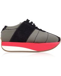 Marni - Grass And Black Tech Fabric Big Foot Trainers - Lyst