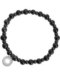 Antica Murrina - Perleadi Dark Grey Murano Glass Beads Bracelet - Lyst