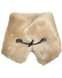 Carven | Faux-fur Collar W/leather Toggle | Lyst