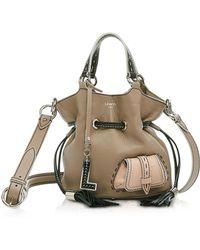 Lancel - Color Block Premiere Small Leather Bucket Bag - Lyst