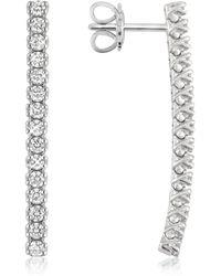 FORZIERI - 1.03 Ctw Drop Diamond 18k Gold Earrings - Lyst