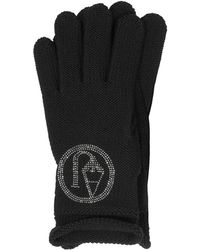 Armani Jeans | Signature Wool Blend Gloves | Lyst