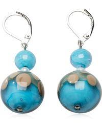 Antica Murrina - Papaya 1 Light Blue Murano Glass Earrings - Lyst