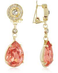 AZ Collection - Orange Clip-on Drop Earrings - Lyst