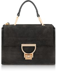 Coccinelle - Arlettis Mini Suede Bag With Shoulder Strap - Lyst