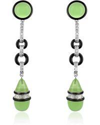 AZ Collection - Jade Drop Clip-on Earrings - Lyst