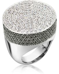 Azhar - Cubic Zirconia And Zircon Cocktail Ring - Lyst