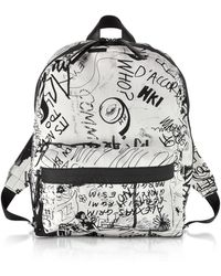 MM6 by Maison Martin Margiela | White And Black Drawings Print Backpack | Lyst