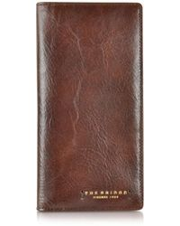 The Bridge | Dark Brown Leather Wallet | Lyst