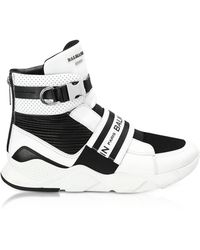 Balmain - Exton White Perforated Leather High Top Men's Sneakers - Lyst