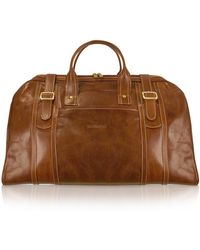 ff932e436a Chiarugi - Handmade Brown Genuine Italian Leather Duffle Travel Bag - Lyst