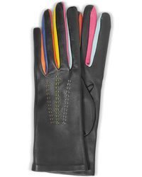 FORZIERI - Arlecchino Black Leather Women's Gloves W/silk Lining - Lyst