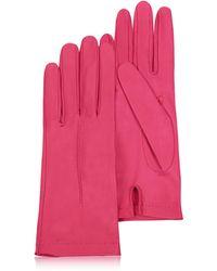 FORZIERI - Gants Femme en cuir italien rose hot - Lyst