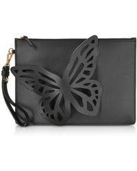 Sophia Webster - Black Flossy Butterfly Pouchette - Lyst
