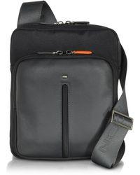 Giorgio Fedon - Web Micro Black Nylon And Leather Crossbody Bag - Lyst