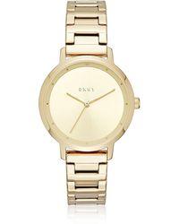 DKNY - The Modernist Gold Tone Women's Watch - Lyst