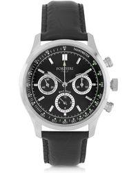 Forzieri | Dublino Stainless Steel Men's Watch W/croco Leather Strap | Lyst