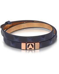 Northskull - Jibiti Blue And Rose Gold Double Wrap Bracelet - Lyst