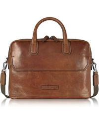 The Bridge - Dark Brown Double Handle Briefcase - Lyst