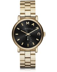 Marc By Marc Jacobs - Baker Golden Stainless Steel Classic Women's Watch - Lyst