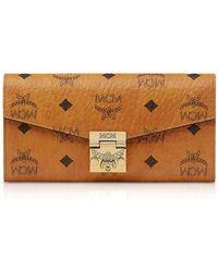 MCM - Large Cognac Visetos Patricia Crossbody Wallet - Lyst
