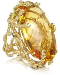 Bernard Delettrez - Medusa Gold And Citrine Ring - Lyst