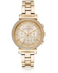 Michael Kors - Sofie Pavé Gold-tone Women's Watch - Lyst