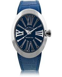 LOCMAN - Change Blue Stainless Steel Oval Case Women's Watch W/3 Leather Straps - Lyst
