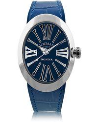 LOCMAN - Change Blue Stainless Steel Oval Case Women's Watch W/3 Leather Straps - Lyst