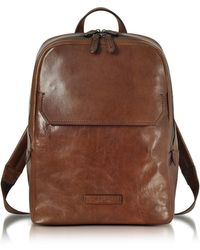 9bdbd1e34f The Bridge Byron Brown Leather Men's Backpack in Brown for Men - Lyst