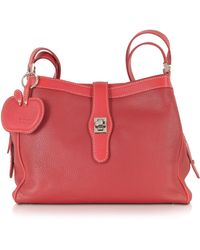 Buti | Red Embossed Leather Shoulder Bag | Lyst