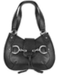 Buti | Black Horsebit Detail Italian Calf Leather Shoulder Bag | Lyst