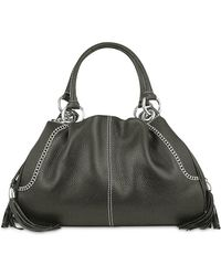 Buti - Black Pebble Italian Leather Satchel Bag - Lyst