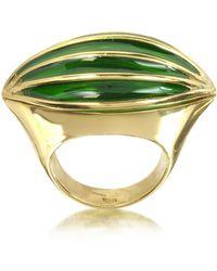 Bernard Delettrez - Bronze Poison Ring W/eye - Lyst