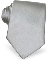 FORZIERI - Solid Light Grey Extra-long Tie - Lyst