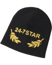 DSquared² - 24-7 Star Icon Black Wool Beanie - Lyst