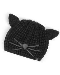 Karl Lagerfeld - Black Choupette Knit Hat - Lyst