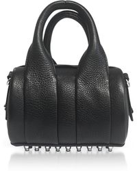 Alexander Wang - Black Soft Pebble Leather Baby Rockie Satchel Bag - Lyst